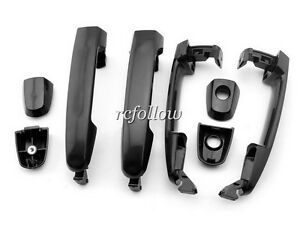 4 Pcs Black Outside Exterior Door Handle For Toyota Rav4 Prius 04 08 Matrix 2004 Ebay