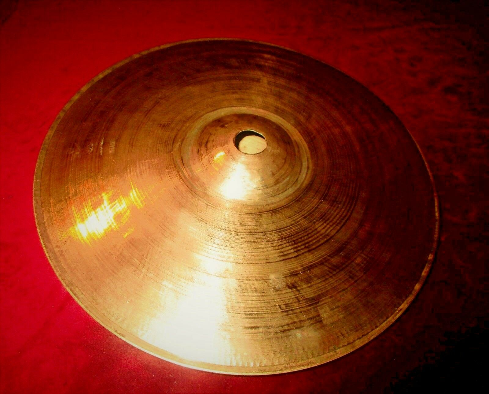 AMAZING VINTAGE ZILDJIAN K HI - HAT CYMBALS ISTANBUL TURKEY FROM 60s EXCELLENT