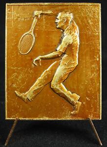 Medaglia-Tennis-c1940-Sous-Occupazione-Tedesca-Sport-Metallo-Baudichon-Medal