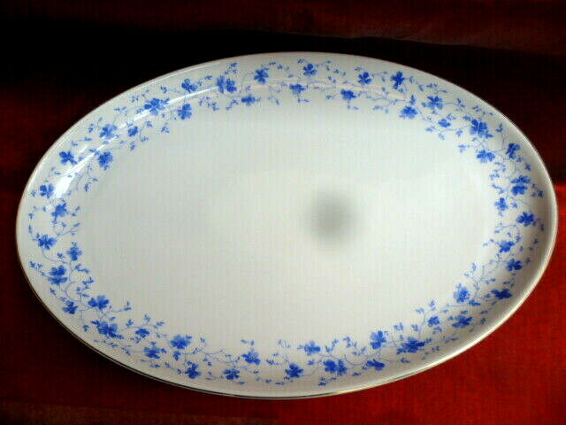 lernen Arzberg Blaublte 1840 ovale Vorlegeplatte mit Goldrand ...