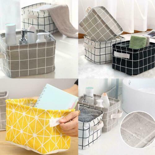 Foldable Storage Bin Closet Toy Box Container Organizer Basket Bag Linen R2E7