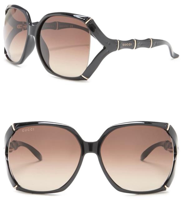 26e561716a038 GUCCI Bamboo Square Sunglasses GG 3508 S Black Gold Brown Gradient GG0505S