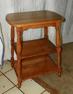 Details About Light Cherry 3 Tier End Table Side T395