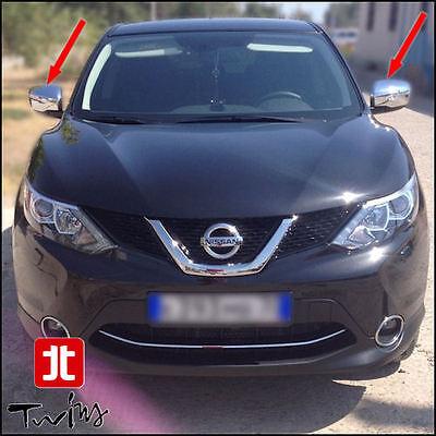 Calotte Cromate Copri Specchietti Nissan Qashqai X-Trail Juke 2014 Cromature