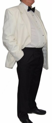 Chatleys Single Breast Cream White Tuxedo Jacket Reduced to Clear