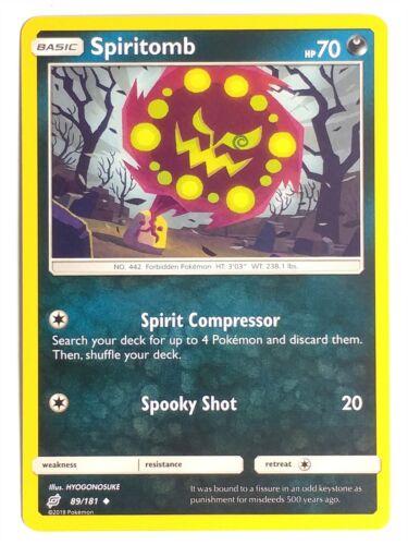 Pokemon TCG SM9 Team Up NM-M 2x Spiritomb 89//181 Uncommon