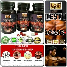TESTOSTERONE MUSCLE BOOSTER ANABOLIC STRONG LEGAL NO STEROIDS/HGH 3X BOTTLES