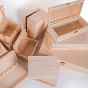 Image Is Loading Selection Of Small Amp Large Wooden Storage Bo