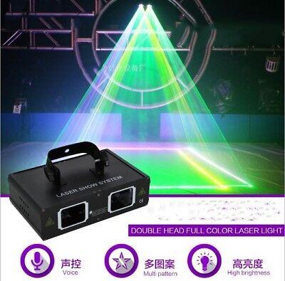 2 Len Red Green Blue Beam Laser Light DMX DJ Party Club Bar