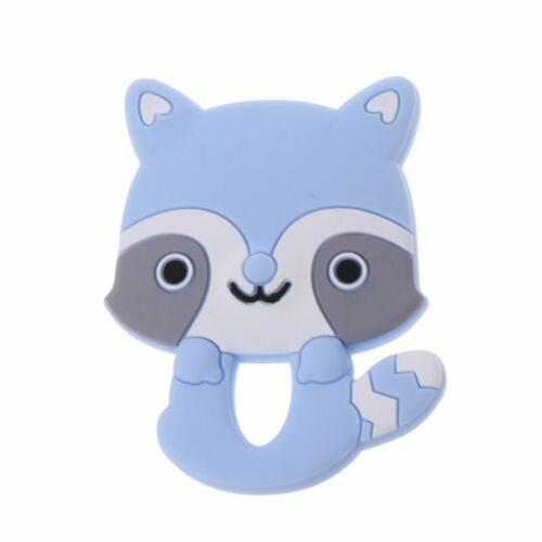 Silicone BPA Free Cartoon Animals Baby Teething DIY Necklace Soft Baby Teethers