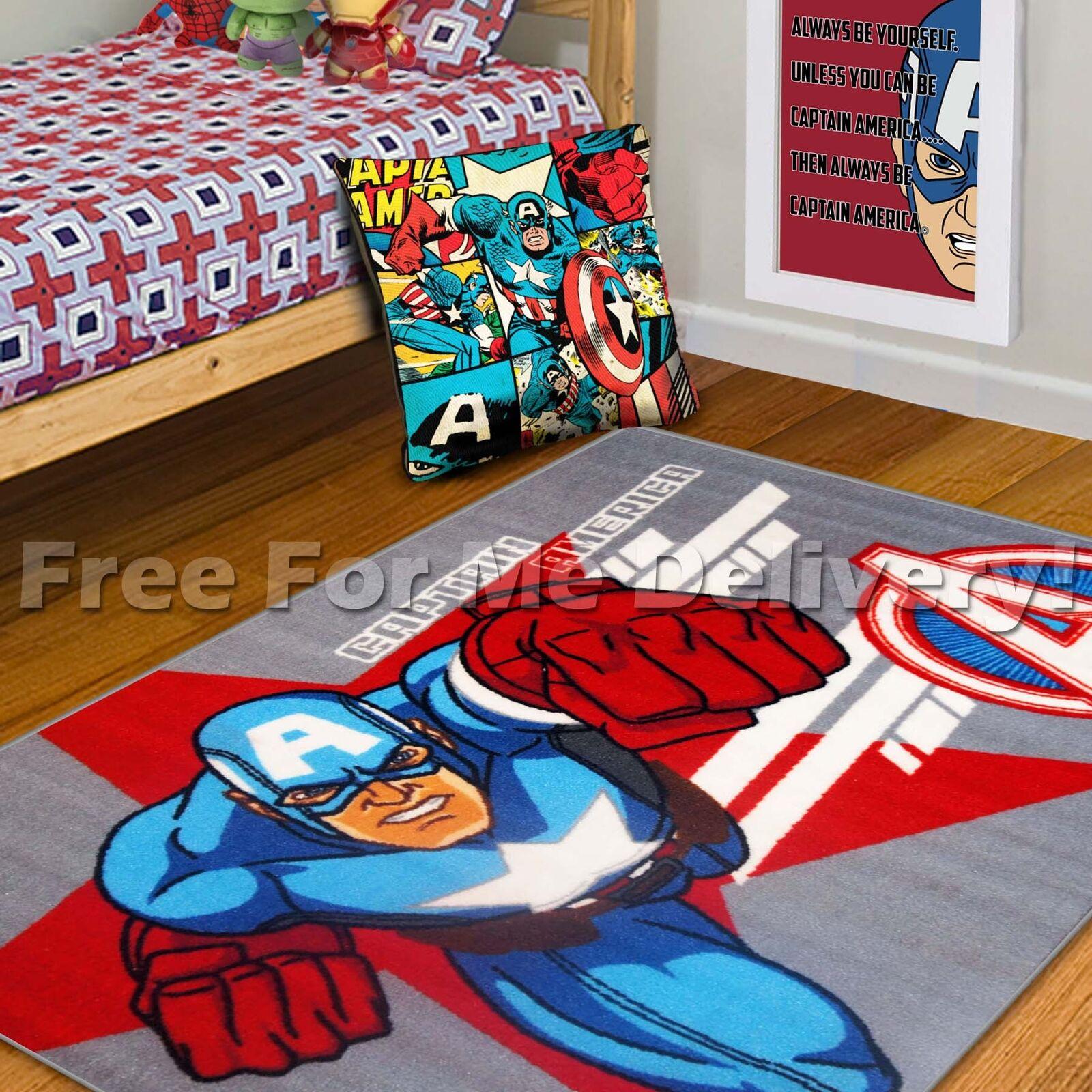 MARVEL AVENGERS CAPTAIN AMERICA KIDS ROOM GIFT SET -Poster Cushion Rug FREE DEL