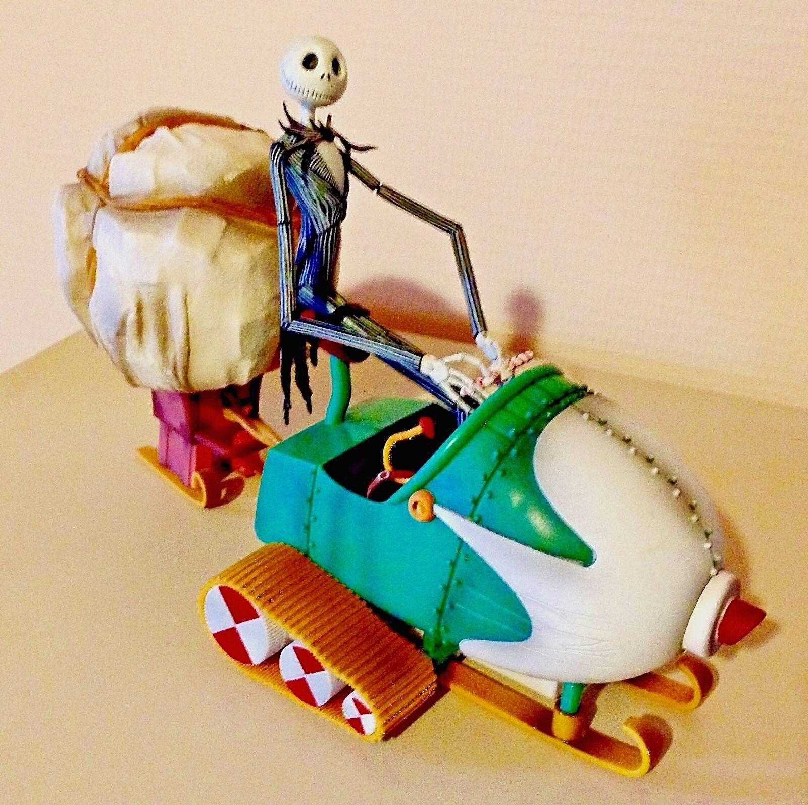 Nightmare Before Christmas • Jack Skellington • figure sleigh • RARE 2006