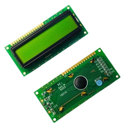 1601A Character LCD Module 16X1 Display Screen LCM with Yellow Green Backlight U