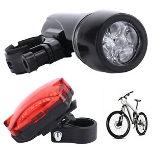 5-LED-Waterproof-Bike-Bicycle-Cycling-MTB-Front-Rear-Tail-Light-Set-Super-Bright
