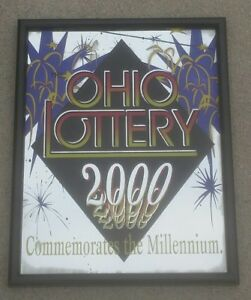 State of Ohio Lottery 2000 commerative mirror Millennium Scratch Off ticket game