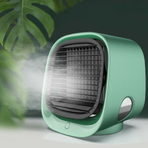 Portable Air Conditioner Fan USB Mini Cooling Bedroom Desktop Cooler Adjustable