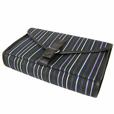Toiletry Bag Overnight Weekend Hang Up Caddy Purple Stripe DC Danielle Vicenza