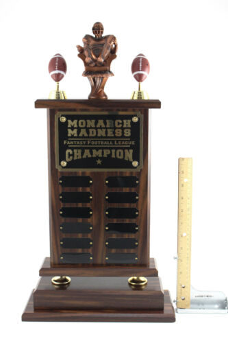 """SHIPS IN 1 DAY FREE ENGRAVING 23/"""" ARMCHAIR QB FANTASY FOOTBALL TROPHY 12 YEAR"""