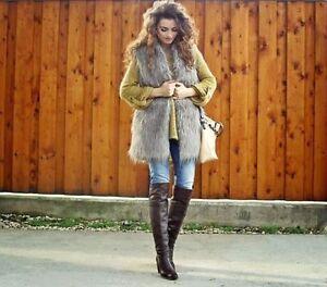 Gilet Finta Media 242 Pelliccia Zara 2398 Giacca Taglia Ref qt751w