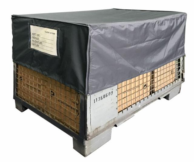 Abdeckhaube Gitterbox 125x85x95cm Braun  Schutzhaube Abdeckplane Staubschutz