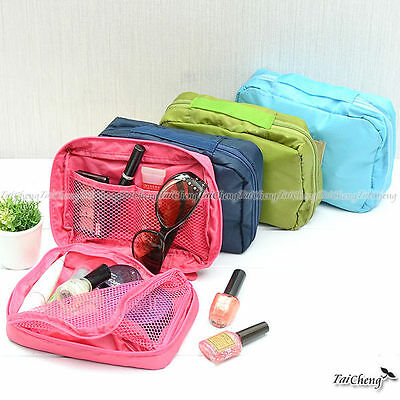 Multiple Function Mesh Handle Bag Packing Box Organizers for Accessories Make Up