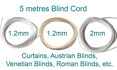 Curtains & Blinds VENETIAN ROMAN  BLIND CURTAIN TRACK  NYLON  WHITE AND COLOURED CORD