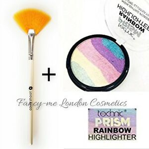 Technic-Prism-Rainbow-Highlighting-Powder-Highlighter-FAN-BRUSH-SEALED