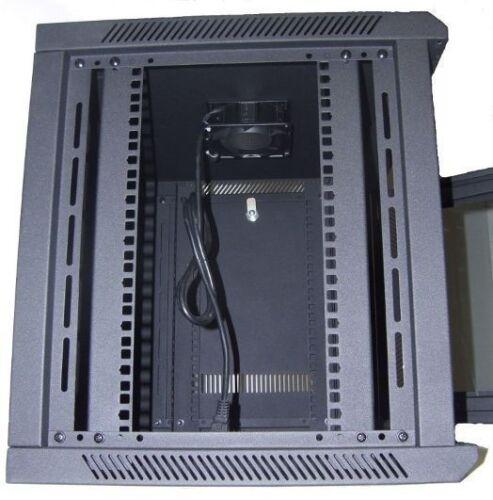 """6U Wall Mount IT Server Network Cabinet Data Rack Locking Glass Door 24/"""" Deep"""
