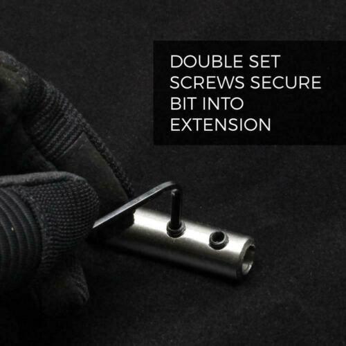 "2 Pcs//set Drill Bit Extension Bar 12/"" 6/"" Paddle Bits or shank 1//4/"" Extender."