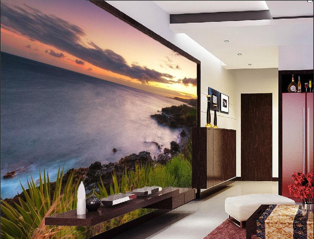 3D Seaside Grass 7456 Wallpaper Mural Wall Print Wall Wallpaper Murals US Summer