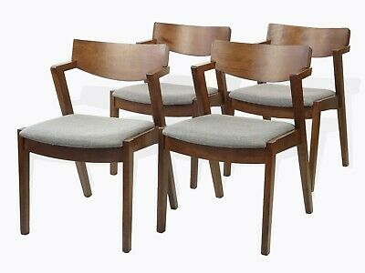 Rattan Wicker Furniture Set of 4 Solid Wood Tracy Dining ...