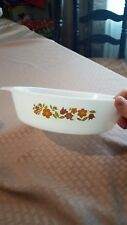 Fire King Tulip Flowers Vintage Casserole Dish 1 1/2 Qt Retro Anchor Hocking 433