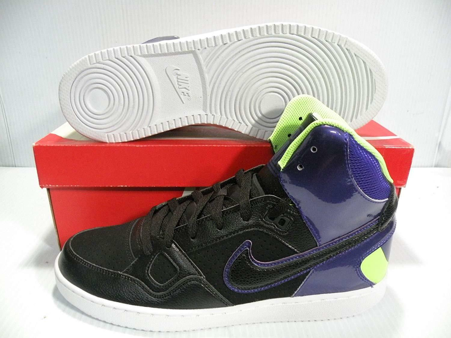 NIKE SON OF FORCE MID SNEAKERS MEN SHOES BLACK PURPLE 616281-004 SIZE 11.5 NEW