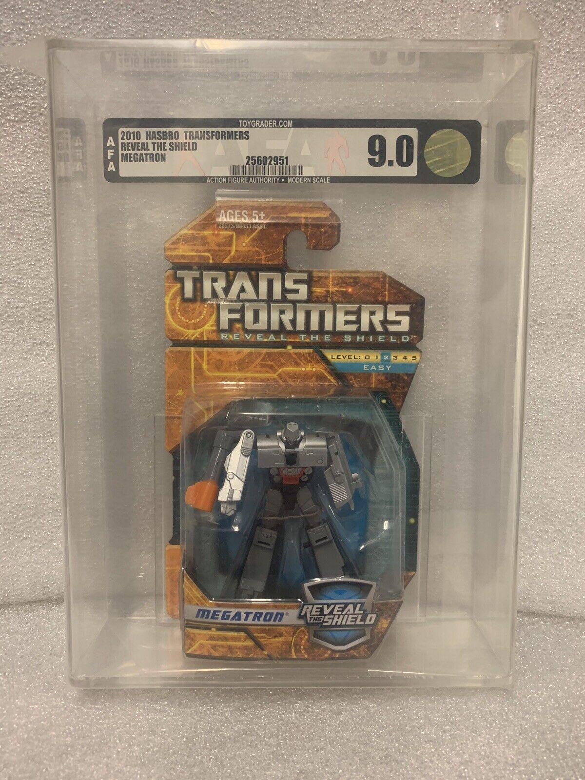 2010 Hasbro Transformers Transformers Transformers Reveal The Shield Megatron G1 AFA Graded 9.0 d91