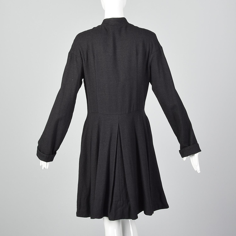 Medium Gary Graham 2000s Wool Princess Coat Charc… - image 5