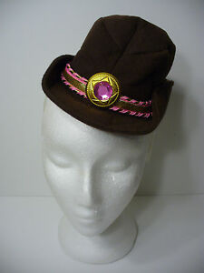 d082b4f0879a9 Brown Mini Cowboy Hat on Headband Saloon Girl Cowgirl Halloween Hat ...