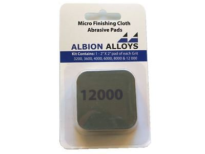 Albion Alloys Micro Finishing Cloth Abrasive Sheets 4000 Grit 100 mm x 70 mm