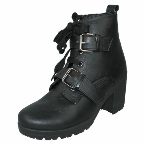 Ladies F50312 Black synthetic ankle boots      by SPOT ON £19.99