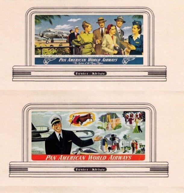 AMERICAN Pan Am Airways billboard signs #95, HO or OO scale