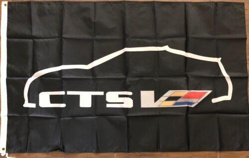 Cadillac CTS V Flag 3x5 Coupe Banner Racing Man Cave Garage Car