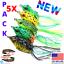 5x-de-haute-qualite-leurres-grenouille-Leurre-Crankbait-Hooks-Bass-Bait-Tackle-Nouveau miniature 1