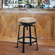 Height Adjustable Bar Stool Swivel Industrial Metal Padded Cafe Bistro Counter & Martin Guitar Strings 40MSP0075 24