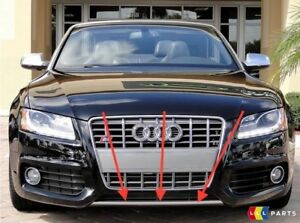 NEW-GENUINE-AUDI-A5-S-LINE-FRONT-BUMPER-DIFFUSER-TRIM-CHROME-8T08077172ZZ