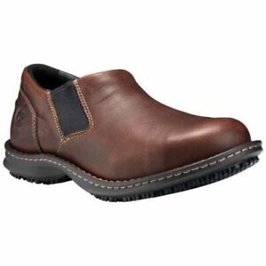 Timberland-PRO-Men-039-s-Gladstone-ESD-Steel-Toe-Slip-On-Work-Shoes-Brown-TB08650921