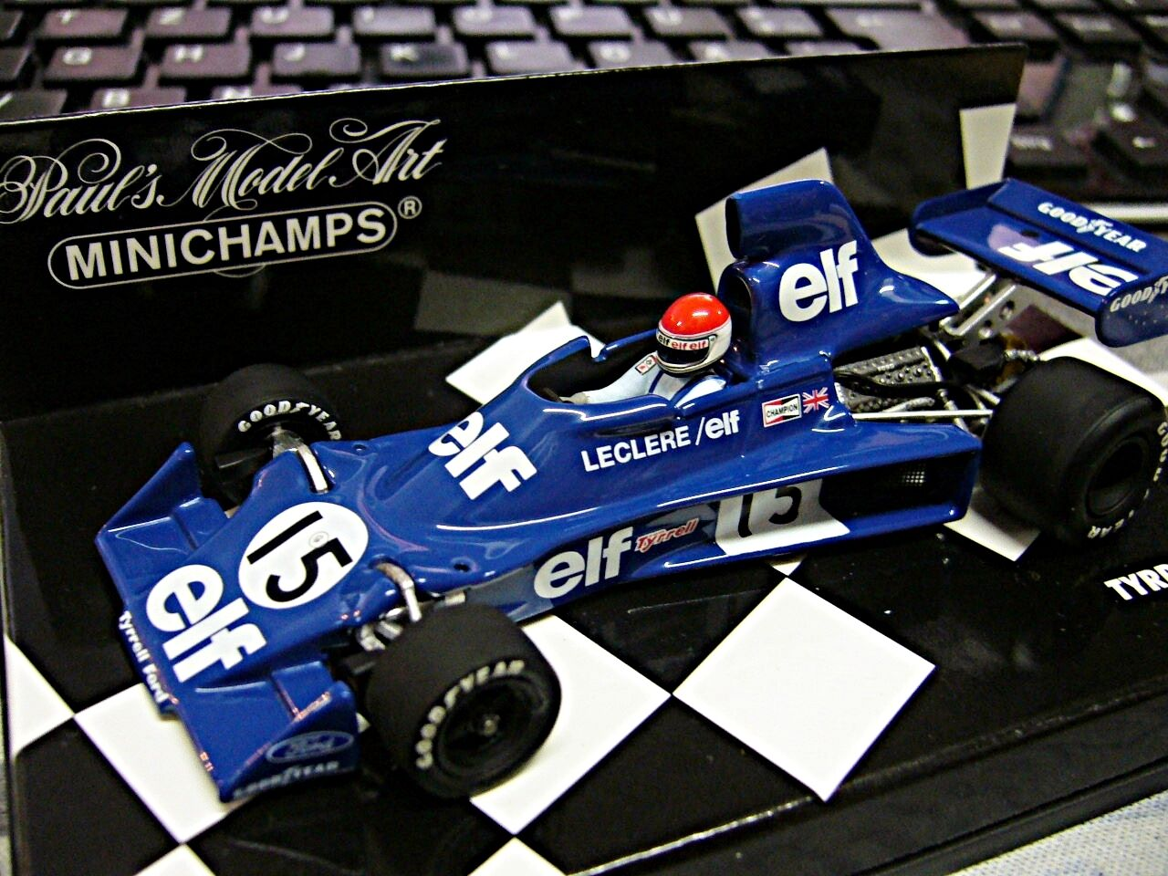 F1 tyrrell ford 007 1975  16 Leclere onze 1 720 LIMITED MINICHAMPS 1 43