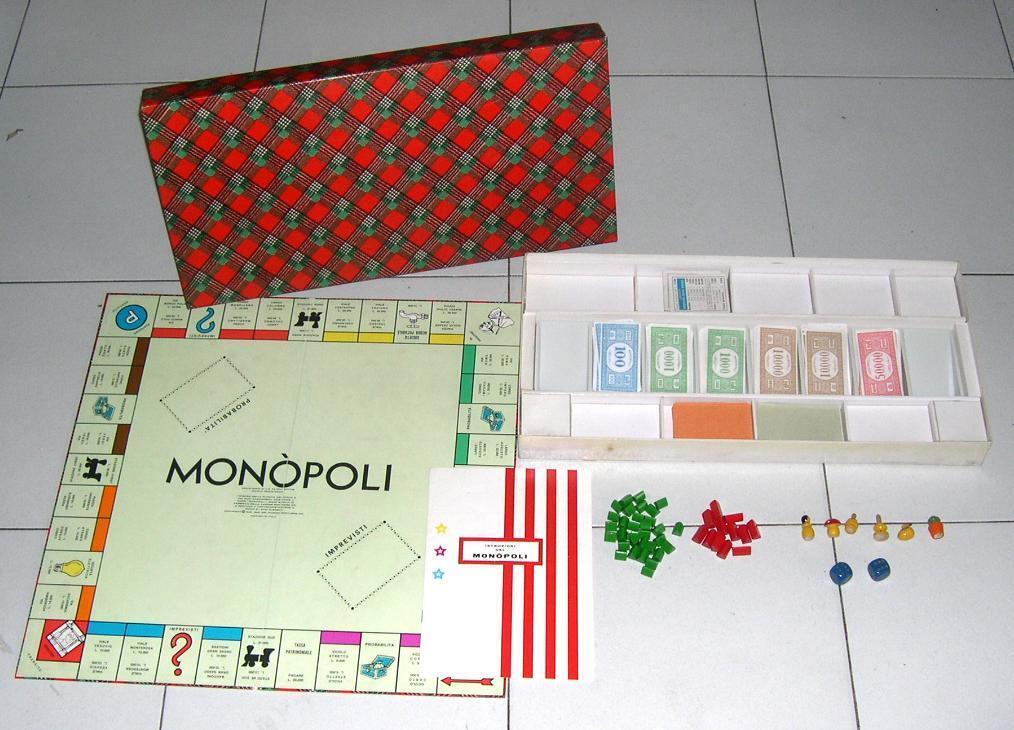 MONOPOLI DE LUXE Boite modèle diamant EDITRICE JEUX 1976 Deluxe Monopoly échecs