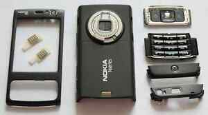 Black-Fascia-Faceplate-Cover-Housing-facia-case-for-nokia-N95-with-keypad