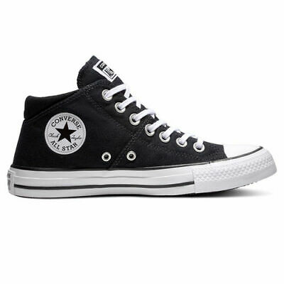 Mid Tops Black White Womens Sneakers