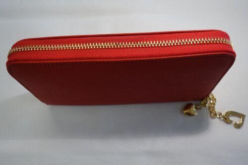 Ladies Leather Purse Wallet Organizer Zip Around Concertina Red Colour