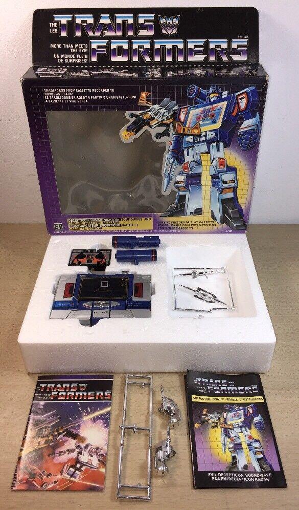 Transformers Original G1 1984 Soundwave Complete w Box Canadian Misprint Autobot